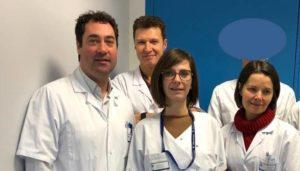 L'équipe craniofaciale de Tours : Pr Boris LAURE, Dr Antoine LISTRAT, Mme Delphine MOISAN, Dr Nadine TRAVERS (de gauche à droite)