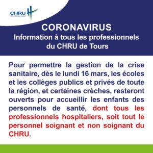 Information à tous les professionnels du CHRU de Tours