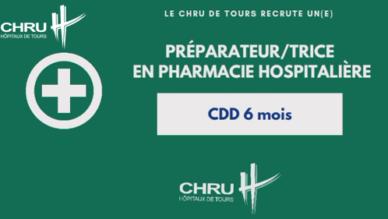 Le CHRU recrute un/e Préparateur/trice en pharmacie hospitalière